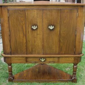 Oak corner TV cabinet