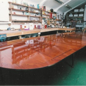 Table after polishing in workshop