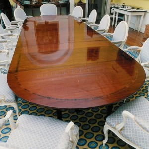 The same table after return to its home.